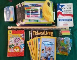 Packing - school supplies