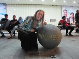 Some days I feel like I'm riding high on this ball Bahasa Indonesia, other days I feel like I am being squashed below. I guess it is a success either way if I can at least do it with a smile.