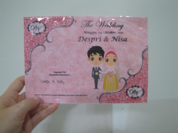 The first wedding invitation that has ever had my name on it!