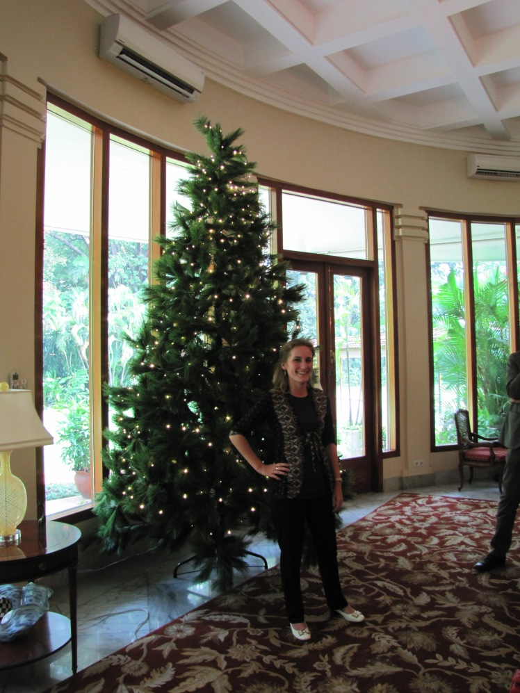 Posing with the Christmas tree in the front room. I'll be spending Christmas in Chiang Mai, Thailand this year.