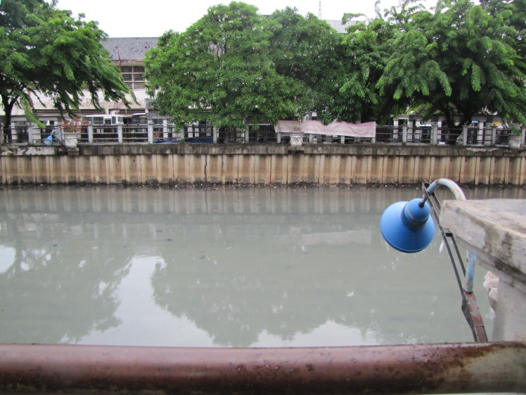 The cab dropped us off a little walk away from Cafe Batavia, so we got to see a tiny slice of the city on our walk there. This is one of the many canals that apparently food during the rainy season. It was... not the cleanest water I've ever seen.