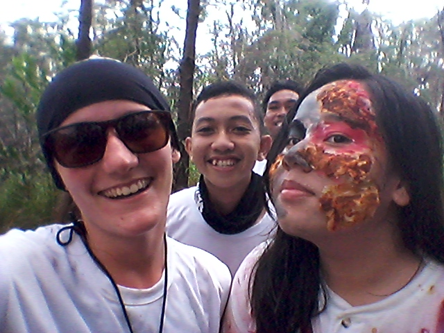 Even zombies are game for a selfie... This is still Indonesia, after all.