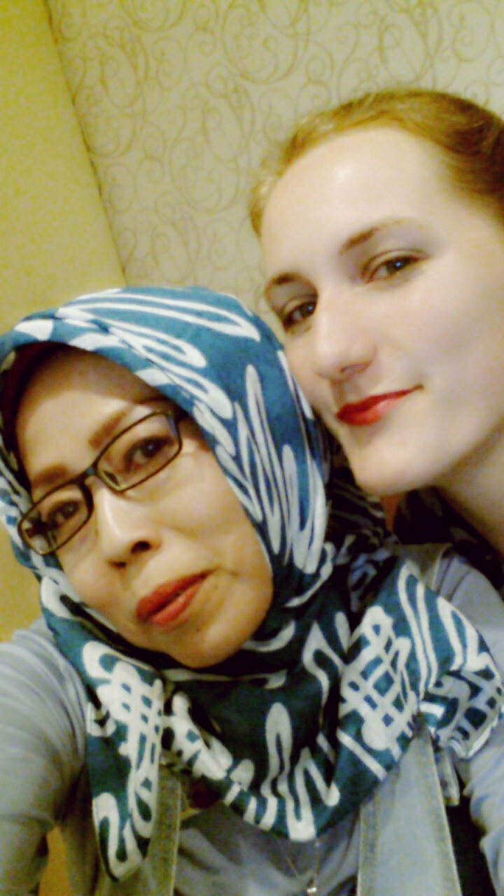 Me and Ibu Evi taking one of many selfies this weekend.