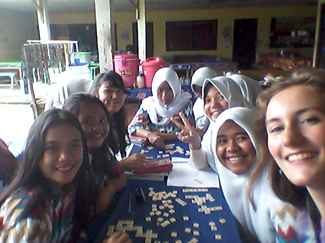 "Spending a ""free"" hour in the canteen playing Bananagrams with one of my best-behaved classes."