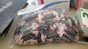 A bag of Tootsie Rolls adds a new dimension of motivation to the classroom.
