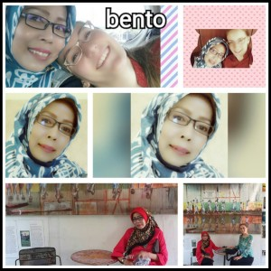 "A collage Ibu Evi made of us with pictures from the Belitung trip last year. ""Bento"" is the name of my favorite Indonesian song."