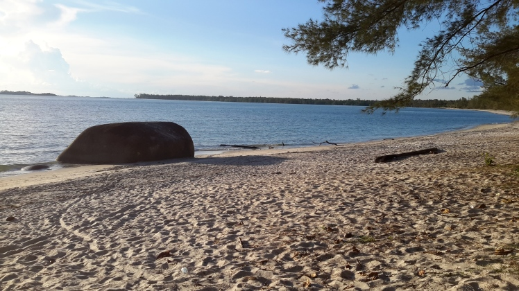 Pantai Romodong, or Romodong Beach, was a nice spot to go for a swim and watch the start of the sunset.