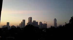 Dawn broke shortly after subuh this morning.