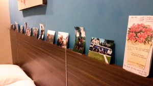 I even put up pictures to feel more at home.