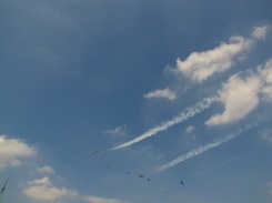 I couldn't get my camera up fast enough to catch these planes.