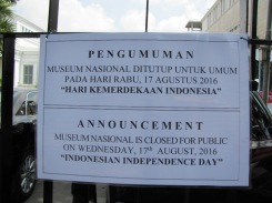 Of all the days for the National Museum to be closed...