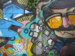 Spray paint art we passed on our walk through the neighborhoods.