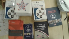 Lots of GREAT swag from the U.S. Consulate, ready to be shared!