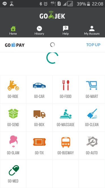 A screenshot of the app. You want someone to come give you a makeover? Clean your house? Deliver your meds? There's an all-in-one app for that: Gojek.