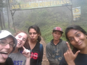 Me, Caroline, Krupa, Yongki, and Shreya as we neared our final destination!
