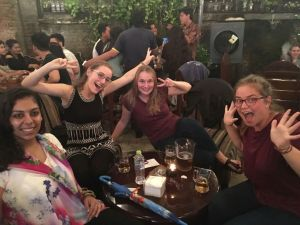 This photo is from a few weeks ago when Ruth (next to me) and Johanna (far left)--who are both AFS Thailand 2010-11 alumns--happened to be passing through Surabaya. Krupa and I met up with them for drinks one evening. How crazy is it that I haven't seen either of them in five years and all of a sudden we happen to cross paths not just once but twice?!