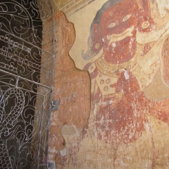How old are the wall paintings in the temples? Who knows! They are cool either way.