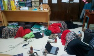 The teachers of KTSP, the small office where my desk is, take regular naps on the floor. What would I do without you guys?!