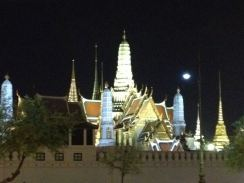 One of Thailand's many fabulous temples lights up well at night.