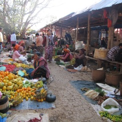 Wet market in Myanmar.